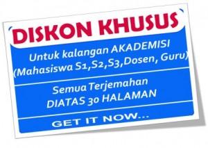 """""""Diskon Jasa Translate"""""""