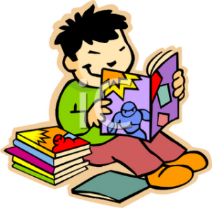 """""""0511-0903-1003-0820_asian_elementary_student_reading_a_book_clipart_image"""""""